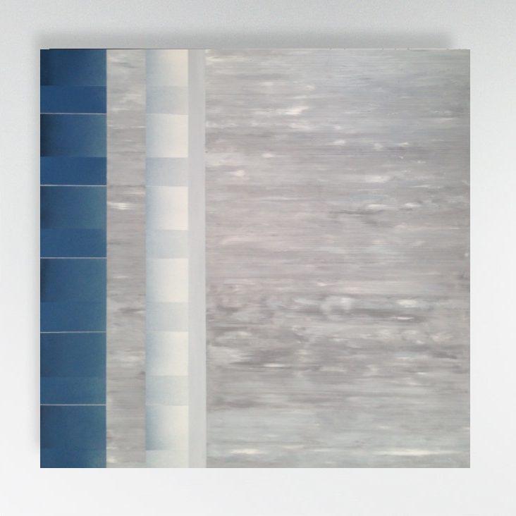 acrylic, spray paint and oil on canvas, 100/100 cm