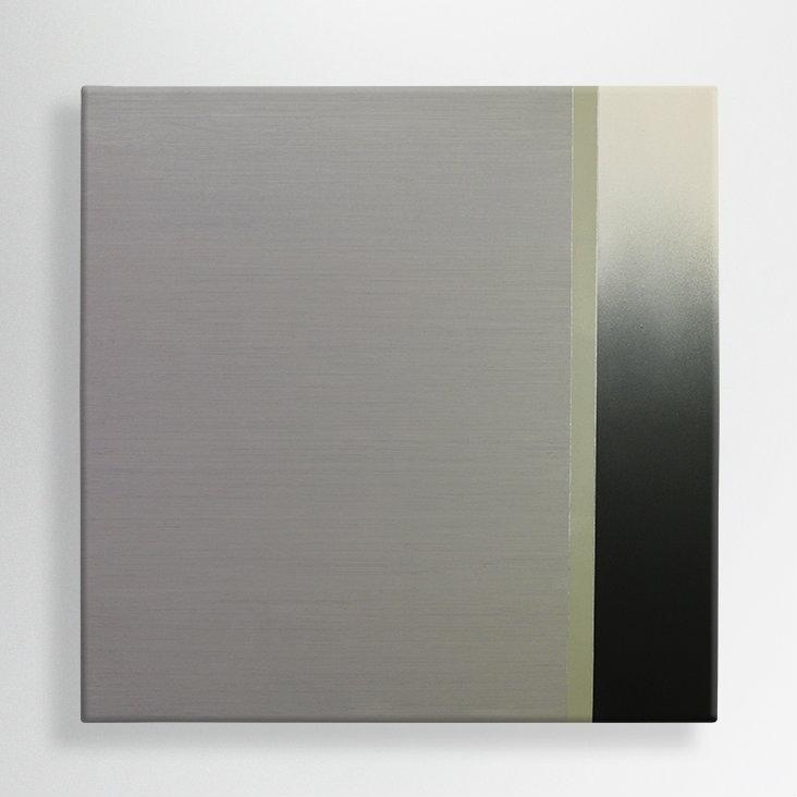 oil and spray paint on canvas, 100/100 cm