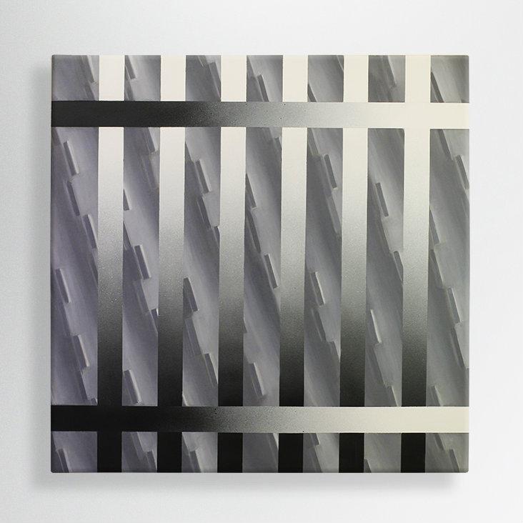 oil and spray paint on canvas 100/100 cm