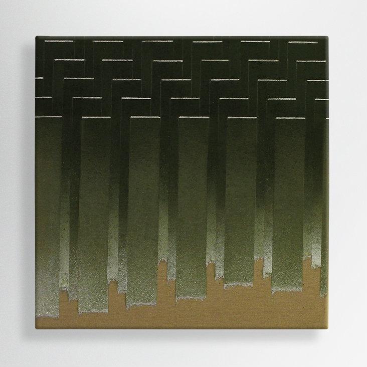 spray paint on raw canvas, 50/50 cm