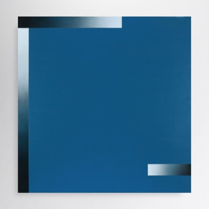 100/100 cm, acrylic and spray paint on canvas