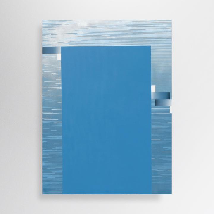 130/100 cm, acrylic, spray paint and marker on canvas