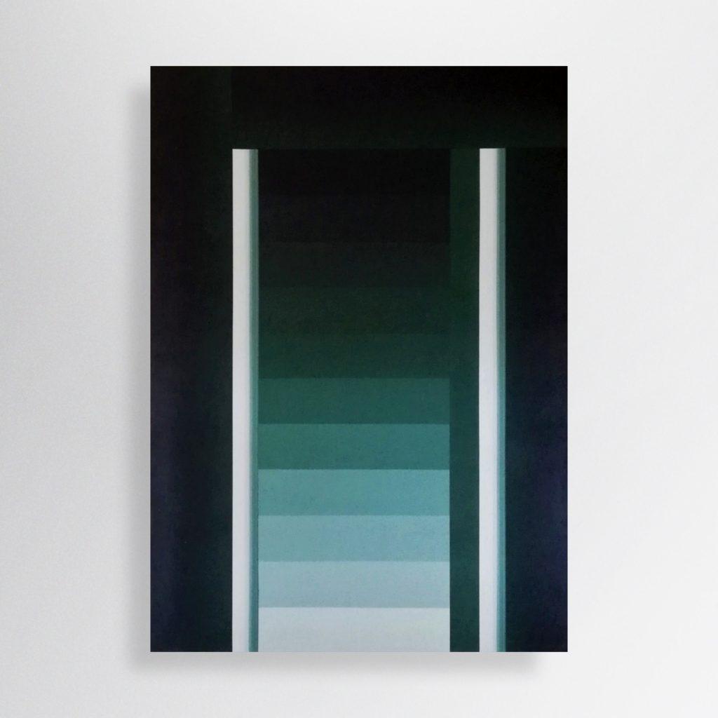 Loking for Stability, 2019, 100/130 cm, acrylic, spray paint on canvas