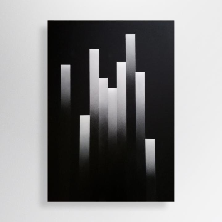 100/70 cm, acrylic and spray paint on canvas