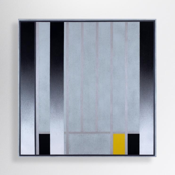 100/100 cm, acrylic, spray paint on canvas