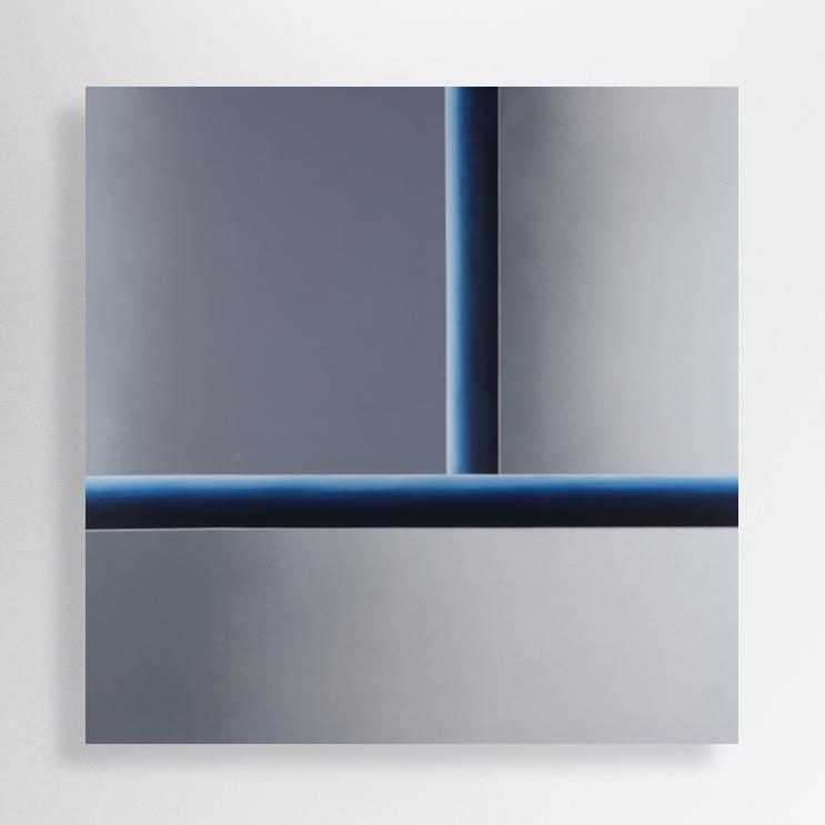 100/100 cm, oil, spray paint on canvas